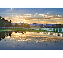 Country Sunset Reflection Photographic Print