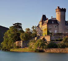 Summer light on Duingt castle by Patrick Morand
