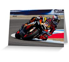 Colin Edwards at laguna seca 2012 Greeting Card