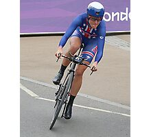 Kristen Armstrong - Starts The Women`s Individaul Time Trial - London 2012 Photographic Print