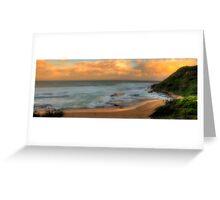Turimetta Sunset - Turimetta Beach #4 Panorama, Sydney Australia - The HDR Experience Greeting Card