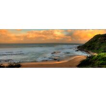 Turimetta Sunset - Turimetta Beach #4 Panorama, Sydney Australia - The HDR Experience Photographic Print
