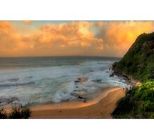 Turimetta Sunset - Turimetta Beach, Sydney Australia - The HDR Experience Photographic Print