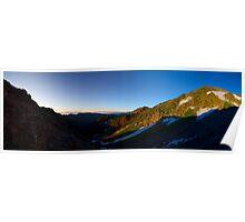 Cool Mountain, Morning Sun Poster