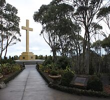 Memorial Cross at Mt Macedon by elm321