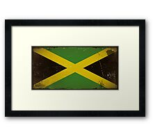 Vintage flag of Jamaica Framed Print