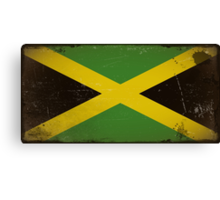 Vintage flag of Jamaica Canvas Print