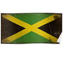 Vintage flag of Jamaica Poster