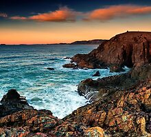 Moonee Headland - Two on the Hill by Michael Howard