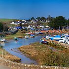 Abersoch inner harbour in summer by Turtle  Photography