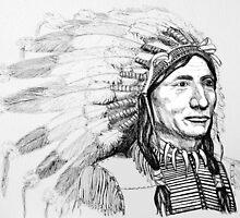 Native American War Bonnet by Woodie