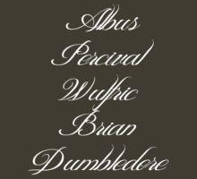 Albus Percival Wulfric Brian Dumbledore by WarnerStudio