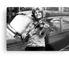 THE FIDDLE PLAYER Metal Print