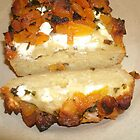 A slice of apricot feta bread by Choux