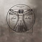 Leonardo da Vinci`s Vitruvian Man by John Darren Sutton