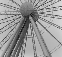 Seattle Great Wheel by Julie Van Tosh Photography