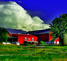 Big Cloud And Farm by EBArt