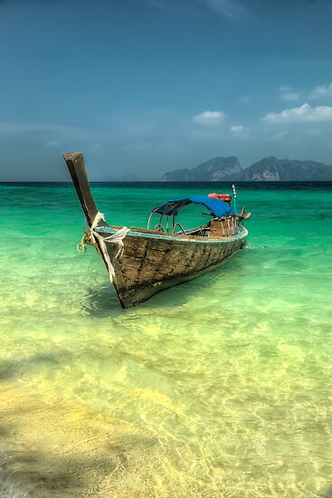 Thailand Longboat by Adrian Evans