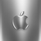 "Apple Logo ""Brushed Chrome Effect"" Cover by Greg Little"