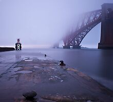 Fog bank on the River Forth, Scotland by paulreid1975