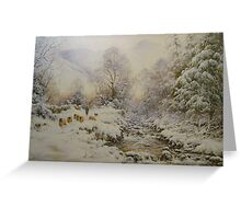 Down the Gill, Helvellyn, Cumbria Greeting Card