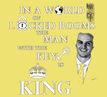 The man with the key is king 2 Kids Clothes