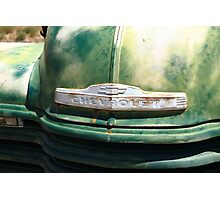 Route 66 - Old Green Chevy Photographic Print