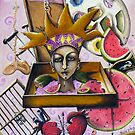 ...While visions of watermelons (with seeds)danced in her head... by helene ruiz
