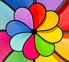 Rainbow pin wheel by ken47