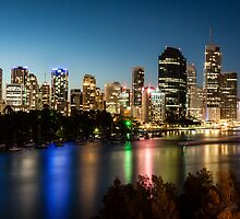 The Lights of Brisbane by Tony White