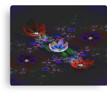 Lace Flowers Canvas Print