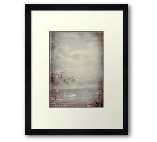the things I allow myself to think (illustration) Framed Print