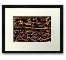 Harbour Bridge and Opera House Sydney Framed Print