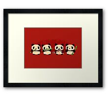 Robot Panda Framed Print