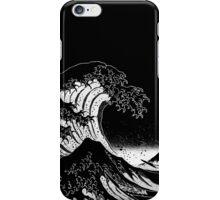 Black & White Hokusai Great Wave iPhone Case/Skin