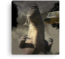 A Dinosaur Encounter Canvas Print