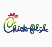 Gay Pride Chick-fil-A Logo by adamcampen