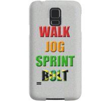 Walk, Jog, Sprint, BOLT!! Samsung Galaxy Case/Skin