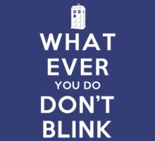 Whatever You Do, Don't Blink (Dark Shirts) with Tardis by oawan