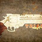 Trigun - Bullets &amp; Butterflies Distressed by Adam Angold