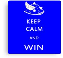 Keep Calm and Win Canvas Print
