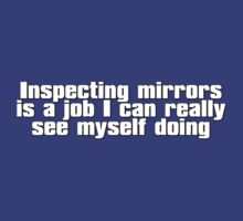 Inspecting mirrors is a job I can really see myself doing by digerati