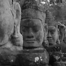 The Guards of Angkor Gate by Pheap Pov