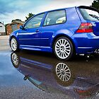 Blue MK4 VW Golf R32 by Jez  Bradshaw