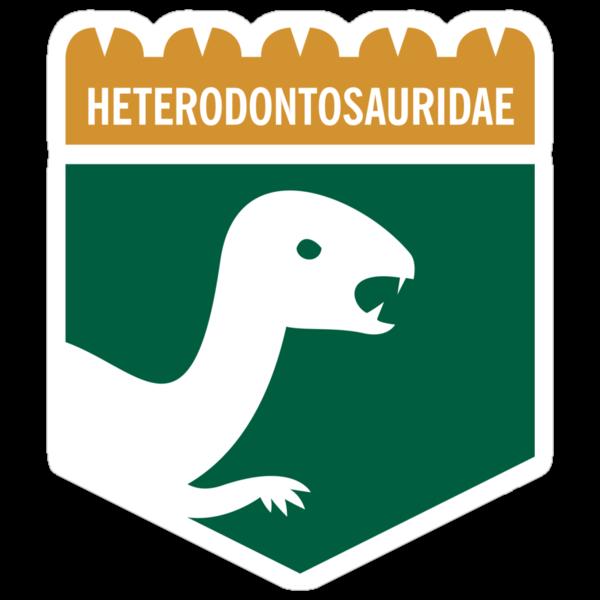Dinosaur Family Crest: Heterodontosauridae by David Orr