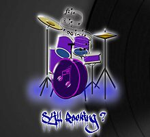 Drums and Vinyl iPhone case design by Dennis Melling