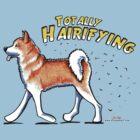 Akita :: Totally Hairifying by offleashart