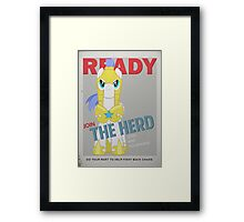 Ready to Join the Herd Framed Print