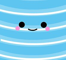 I'm a cute Iphone and I smile [Light Blue] by Mhaddie