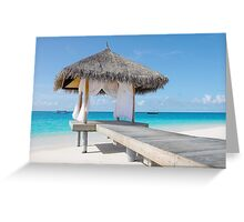 Romantic Hut with Light Ocean Breeze. Maldives  Greeting Card